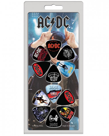 AC/DC - Logo and Albums Guitar Picks Pack