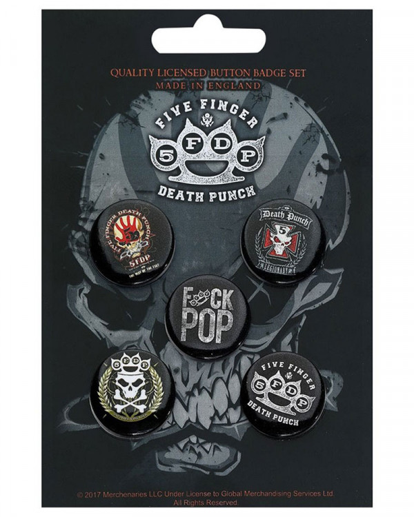 Five Finger Death Punch - Logos Button Badge Pack