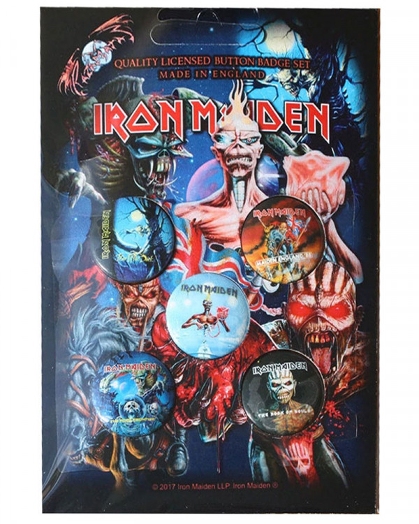 Iron Maiden - Later Albums Button Badge Pack