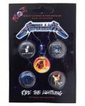Metallica - Ride The Lightning Button Badge Pack