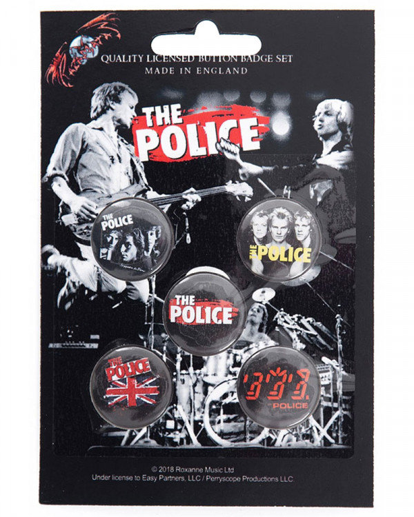 Police - Various Button Badge Pack
