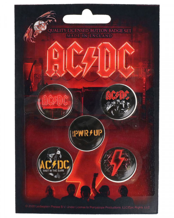 AC/DC - PWR Up Button Badge Pack