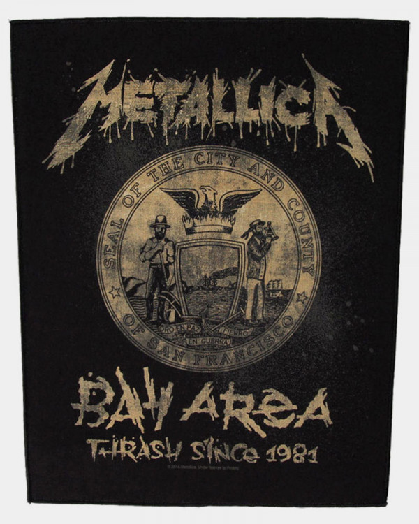 Metallica - Bay Area Thrash Back Patch