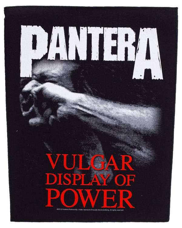Pantera - Vulgar Display Of Power Back Patch