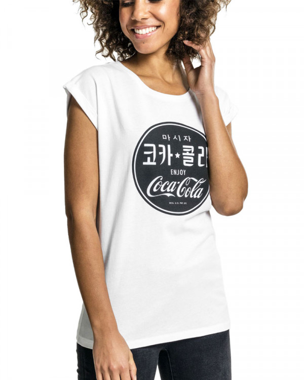 Coca Cola - Korean White Women's T-Shirt
