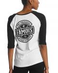 Famous Stars And Straps - Chaos White Black Women's Baseball Jersey