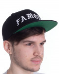 Famous Stars And Straps - Old Logo Black Snapback Baseball Cap