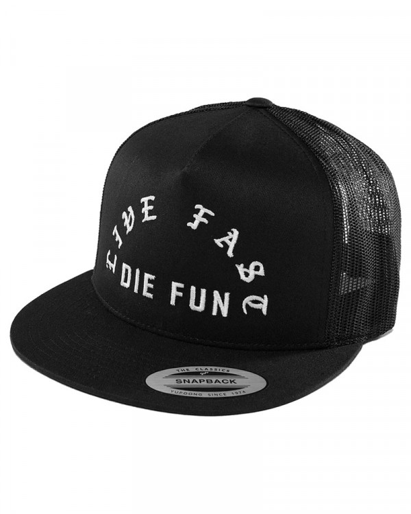 Famous Stars And Straps - Live Fast Die Fun Black Snapback Trucker Cap
