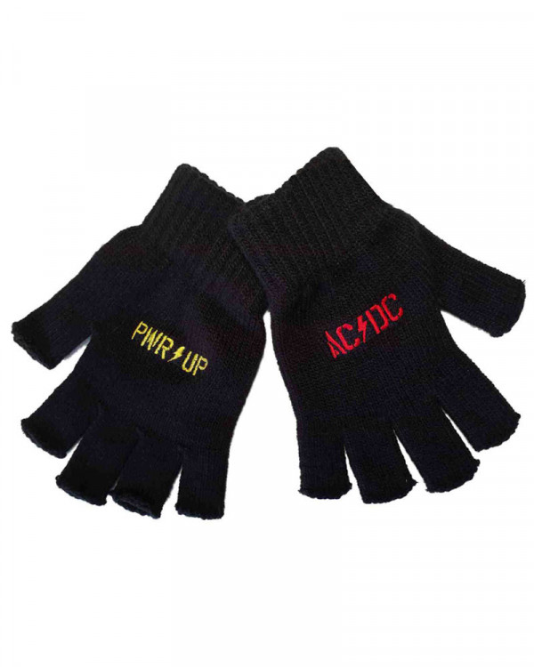 AC/DC - PWR Up Logo Fingerless Gloves