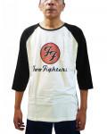 Foo Fighters - Red Circular Logo Ecru-Black Men's Baseball Jersey