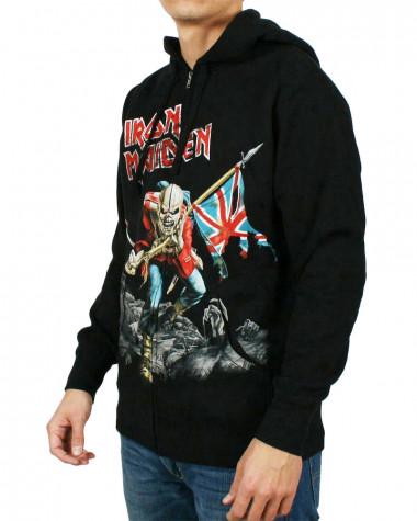 Iron Maiden - Scuffed Trooper Men's Zip Hoodie