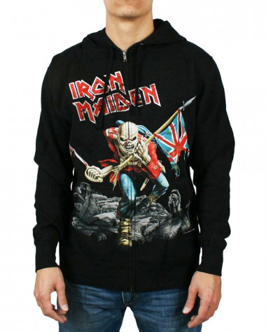 Iron Maiden - Scuffed Trooper Men's Zip Hoodie