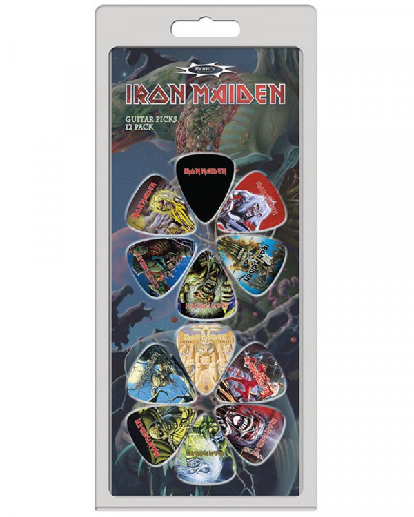 Iron Maiden - Logo and Albums Guitar Picks Pack
