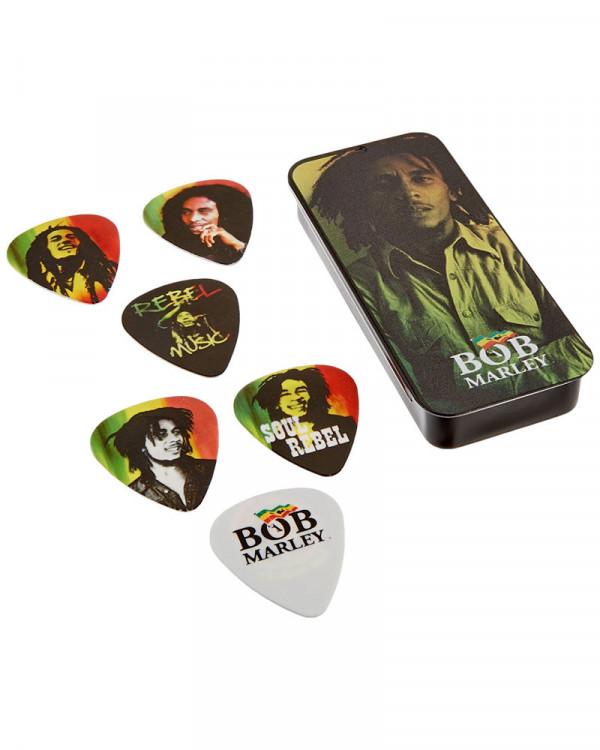 Bob Marley - Rasta Guitar Picks With Collector's Tin