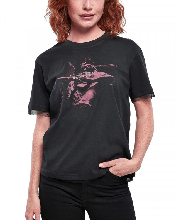 My Chemical Romance - Shrine Angel Laces Black Women's T-Shirt