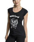 Motorhead - Logo Warpig Cutted-Back Black Women's T-Shirt