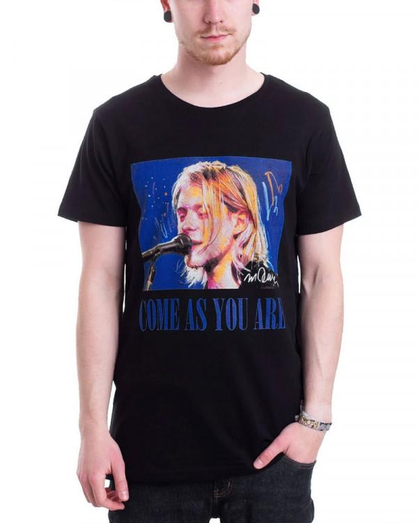 Nirvana - Kurt Come As You Are Black Men's T-Shirt