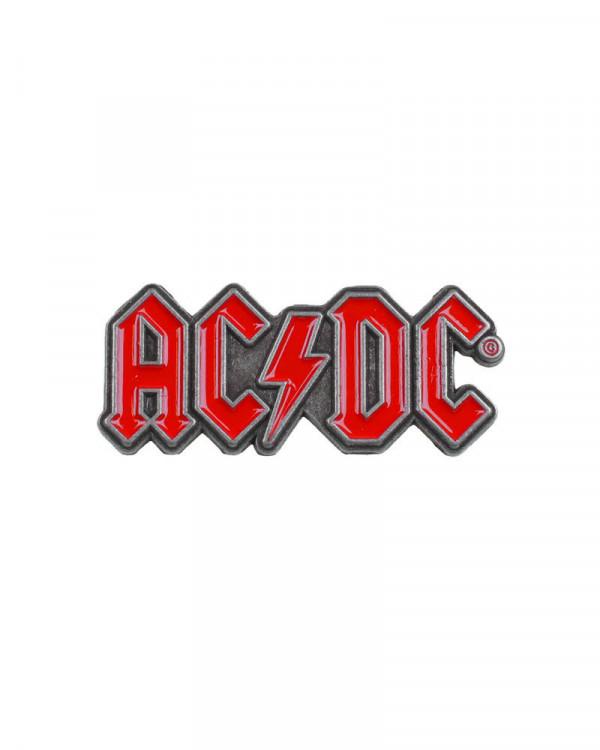 AC/DC - Red Logo Pin Badge