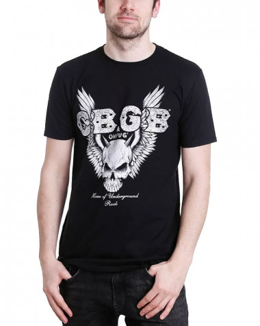 CBGB - Skull Wings Men's T-Shirt