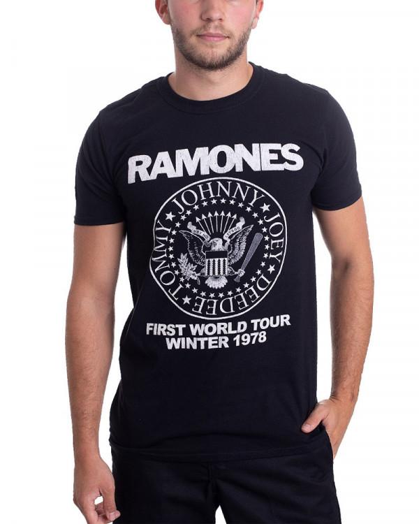Ramones - First World Tour 1978 Black Men's T-Shirt