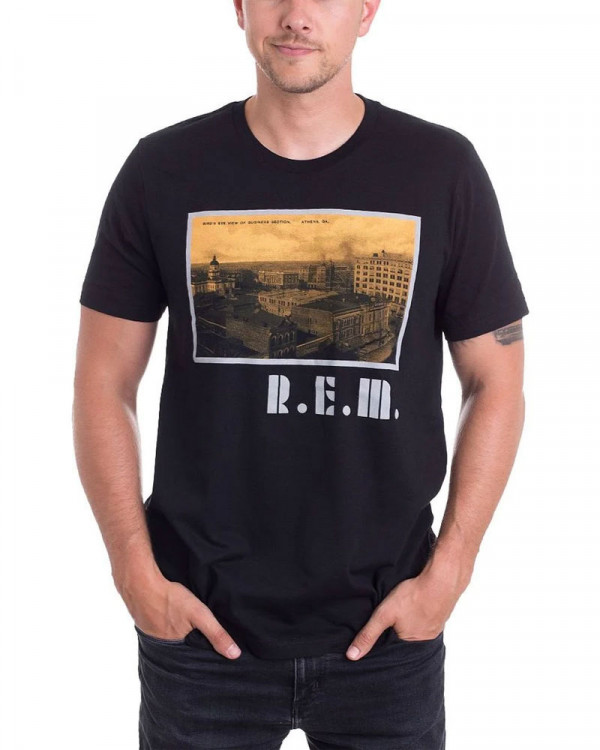 R.E.M. - Athens Black Men's T-Shirt