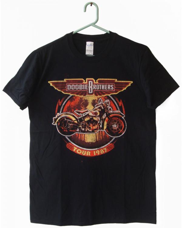 Doobie Brothers - Motorcycle Tour '87 Black Men's T-Shirt