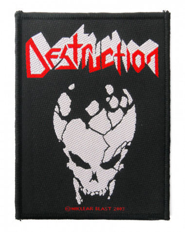 Destruction - Skull Woven Patch