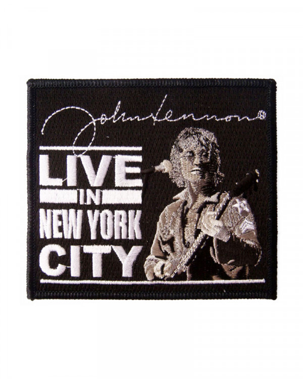 Beatles - John Lennon Live In New York City Embroidered Patch