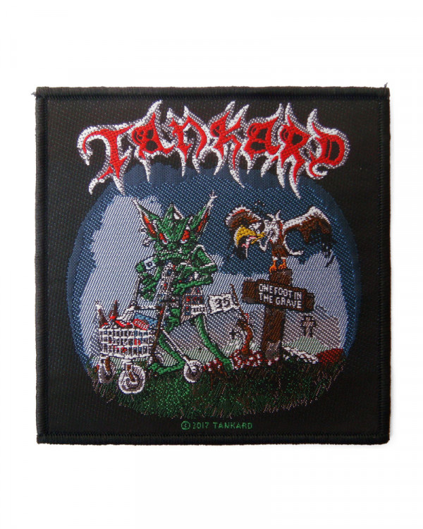 Tankard - One Foot In The Grave Woven Patch