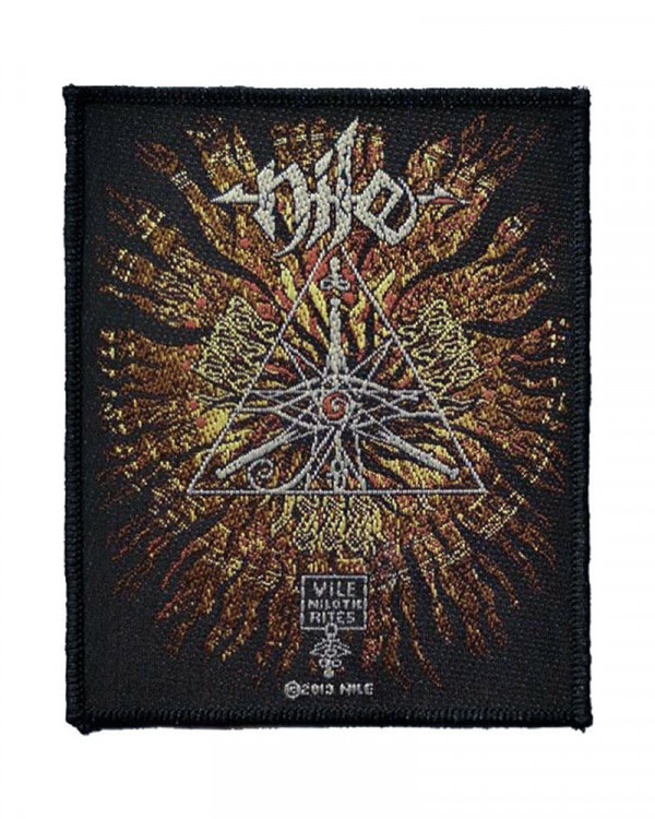 Nile - Vile Nilotic Rites Woven Patch
