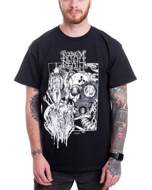 Napalm Death - Harmony Corruption Black Men's T-Shirt