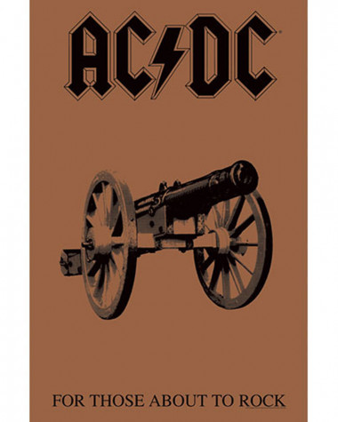 AC/DC - For Those About To Rock Flag Poster