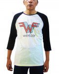 Weezer - Extrude W Ecru-Black Men's Baseball Jersey