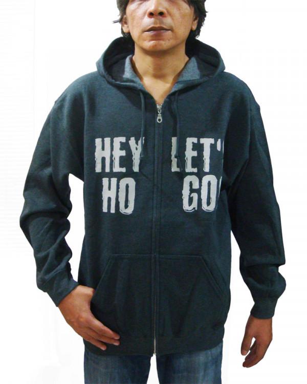Ramones - Hey Ho Let's Go Seal Dark Grey Men's Zip Hoodie