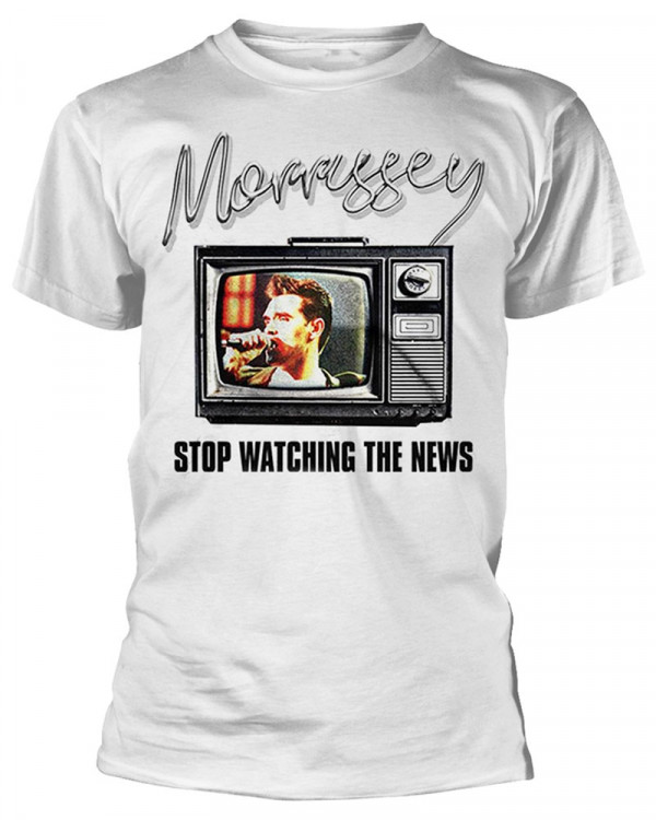 Morrissey - Stop Watching The News White Men's T-Shirt