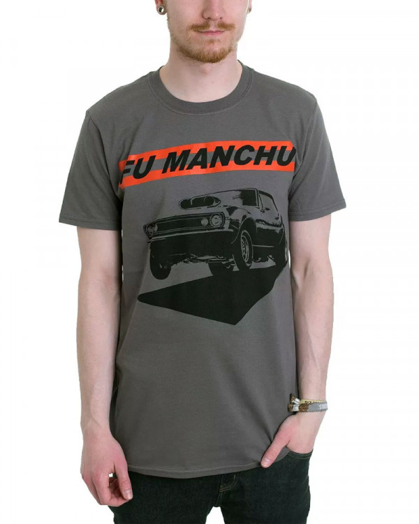 Fu Manchu - Muscles Charcoal Men's T-Shirt