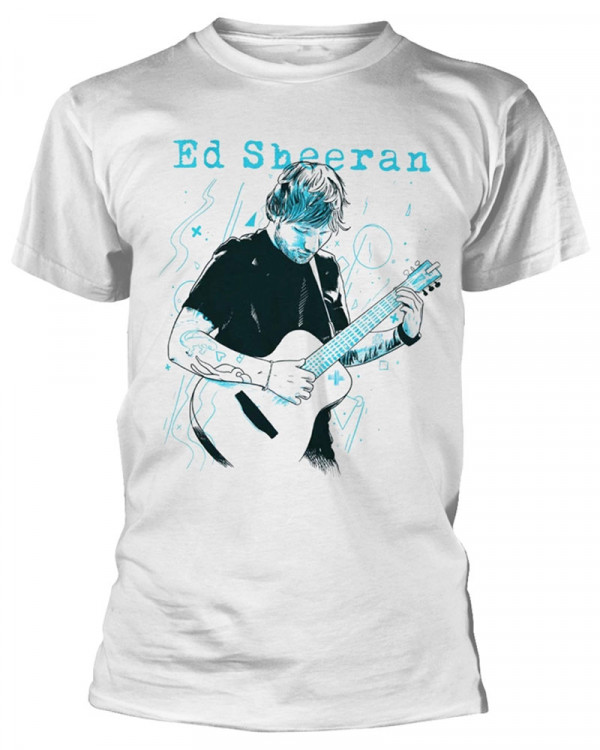 Ed Sheeran - Guitar Line Illustration White Men's T-Shirt