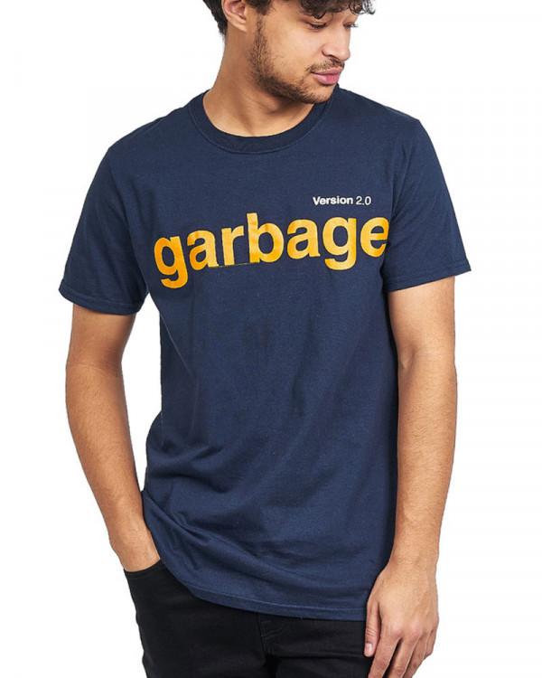 Garbage - Version 2.0 Navy Men's T-Shirt