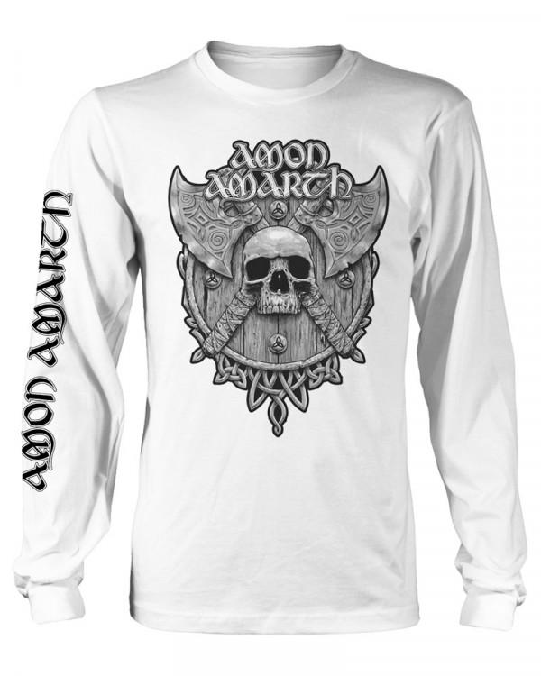 Amon Amarth - Grey Skull White Men's Longsleeve T-Shirt