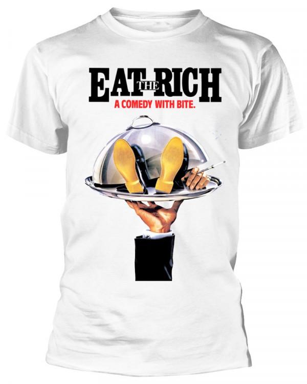 Comic Strip - Eat The Rich White Men's T-Shirt