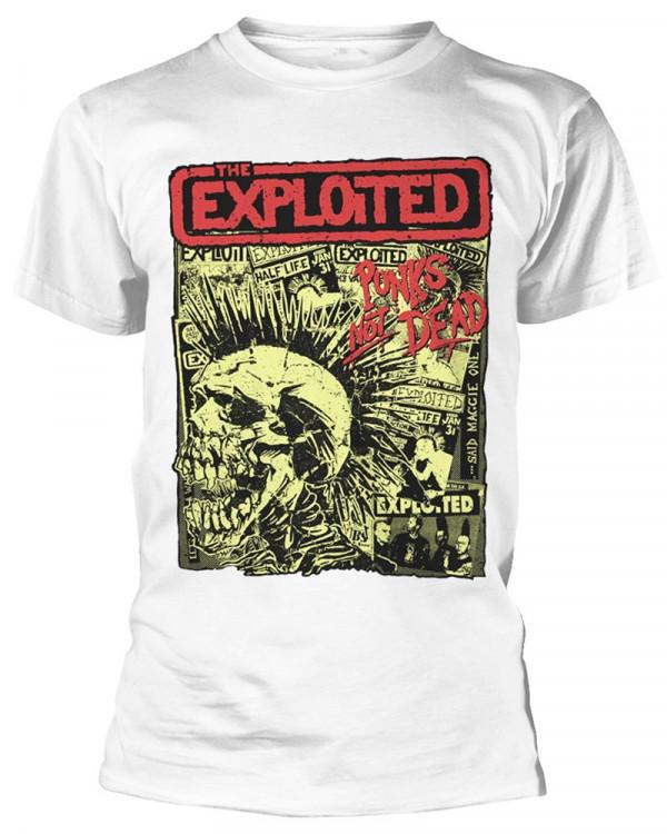 Exploited - Punks Not Dead White Men's T-Shirt