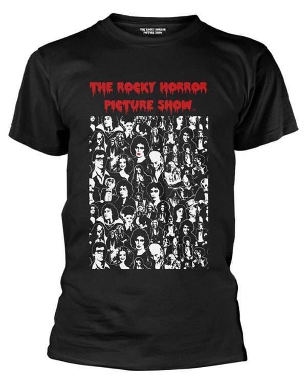 Rocky Horror Picture Show - Block Characters Black Men's T-Shirt