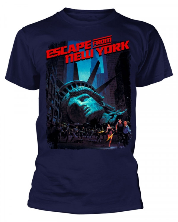 Escape From New York - Movie Poster Navy Men's T-Shirt