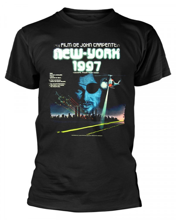 Escape From New York - French Poster Black Men's T-Shirt