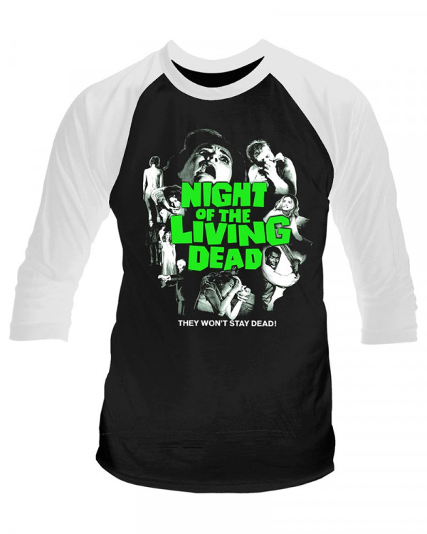 Night Of The Living Dead - Won't Stay Dead Men's Baseball Jersey