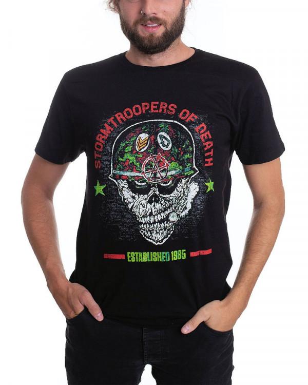 S.O.D. - Helmet Head Black Men's T-Shirt