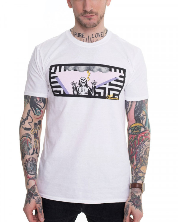 Paramore - Lightning Skelly White Men's T-Shirt