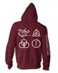 Led Zeppelin - Symbols Maroon Men's Zip Hoodie