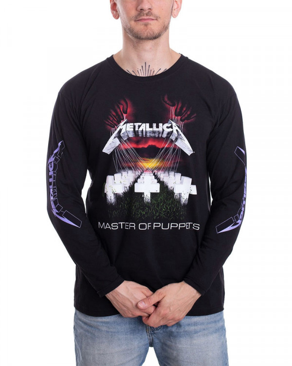 Metallica - Master Of Puppets Black Men's Longsleeve T-Shirt