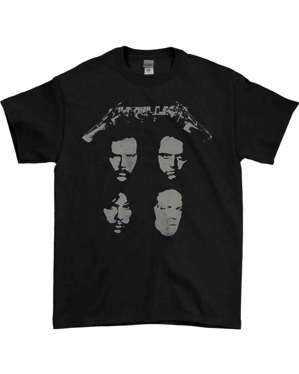 Metallica - 4 Faces Black Men's T-Shirt